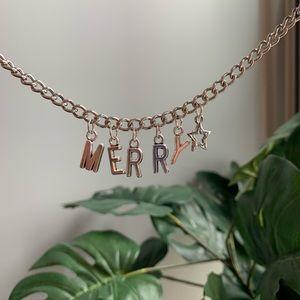 custom handmade chain necklace- HOLIDAY EDITION